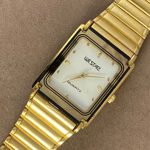 Vintage WESTAR 18K Gold Plated Mens Watch